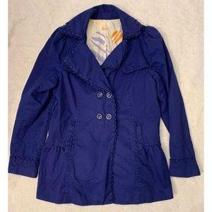 Elevenses Anthropologie Womens Trench Coat Sz 10